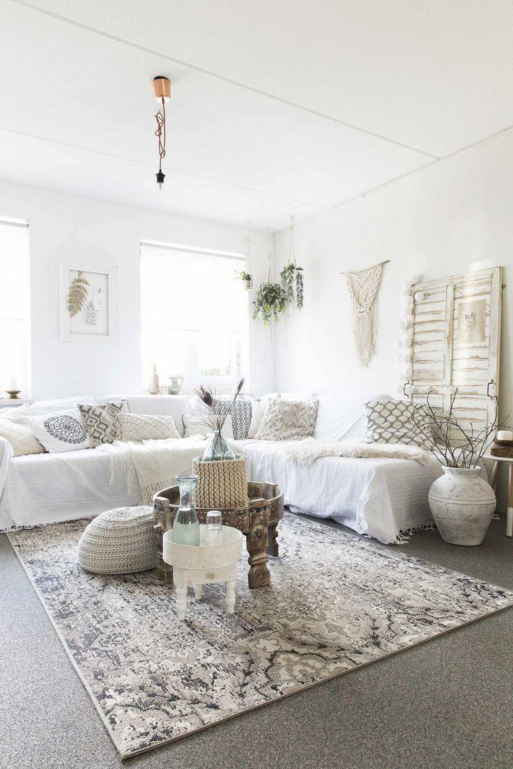 25+ beste ideeën over Witte woonkamers op Pinterest - Groot ...