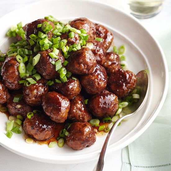 These Spicy Apple-Glazed Meatballs blend sweet fruit and garlicky goodness.