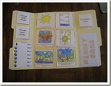 "Creation Lapbook This one may be better to do this week b/c God is the ultimate artist and Jan. 31st is ""Inspire Your Heart with Art Day""!!!!!!!!!"