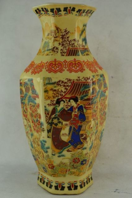 Exquisite Decorated Wonderful Handwork Porcelain Drawing Dowager Lucky Noble Big Vase