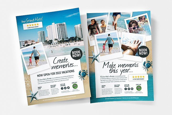 Travel Hotel Flyer Poster Template