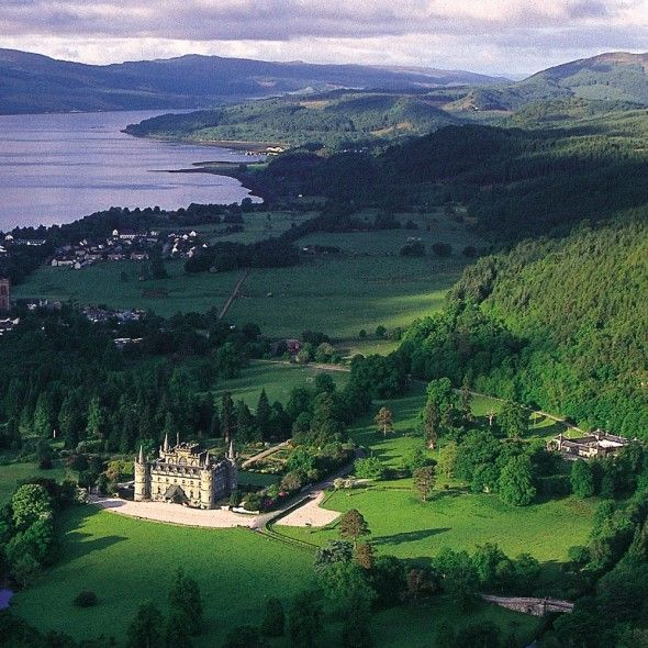 Inverary Castle -  near Inveraray in the county of Argyll, in western Scotland, on the shore of Loch Fyne