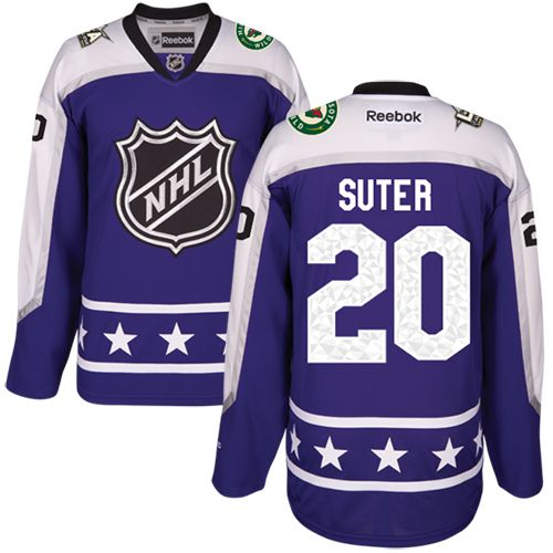 Men's Minnesota Wild #20 Ryan Suter Purple 2017 All-Star Central Division Stitched NHL Jersey