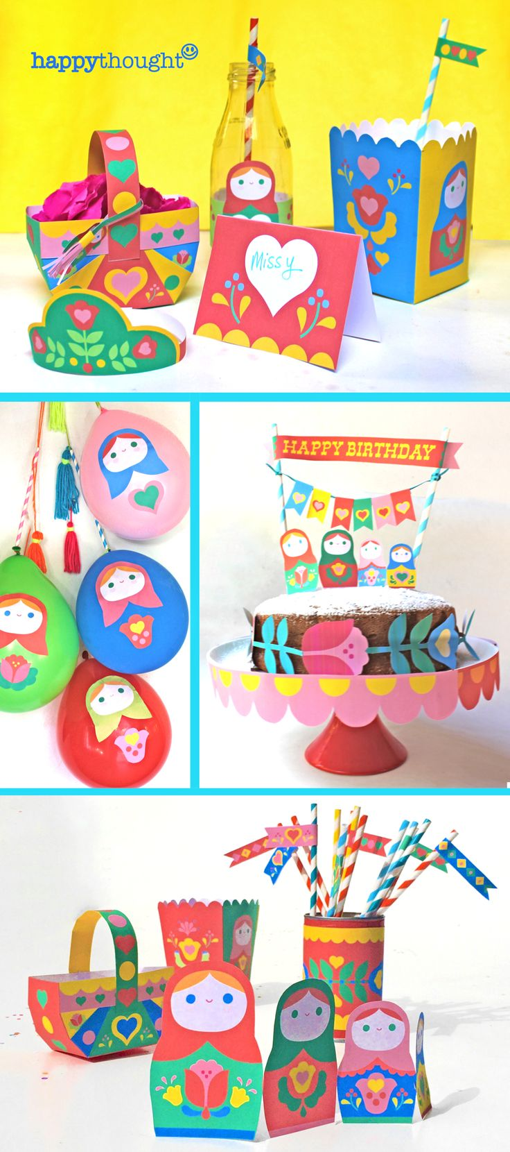 Adorable printables! Matryoshka Doll party and activities by happythought.co.uk All you need for a fab party.