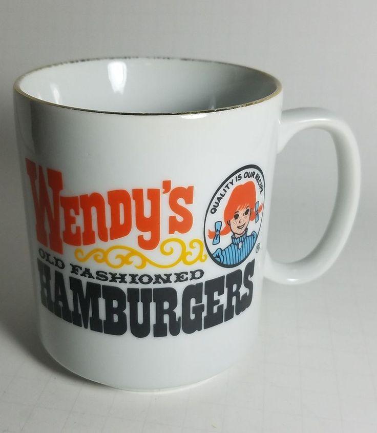 WENDY'S OLD FASHIONED HAMBURGERS BIG COFFEE MUG 14.3 OZ EUC    Collectibles, Advertising, Restaurants  Fast Food   eBay!