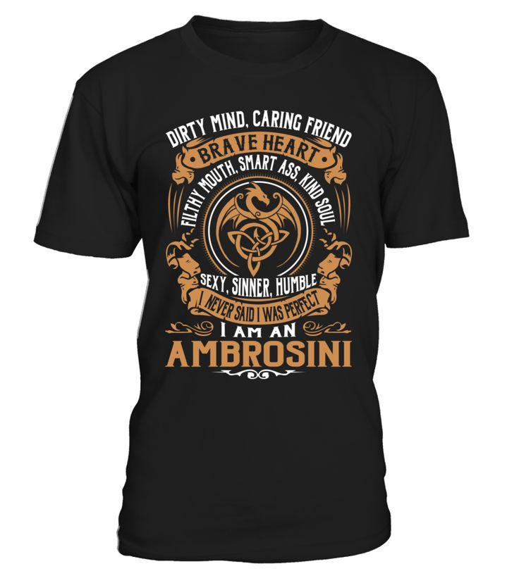 AMBROSINI Brave Heart Last Name T-Shirt #Ambrosini