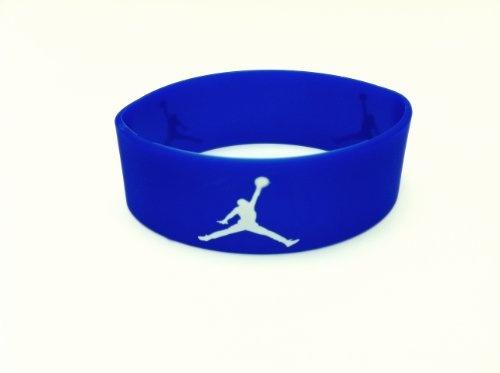 Michael Jordan Wristband Sport Silicone Bracelet  BLUE /WHITE Jumpman Logo - http://www.nbamixes.com/michael-jordan-wristband-sport-silicone-bracelet-blue-white-jumpman-logo - http://ecx.images-amazon.com/images/I/31KzLiVumJL.jpg
