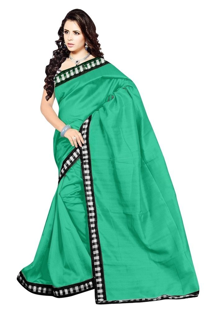This Rama Green Saree measures approx. 6.3 Yards in length.