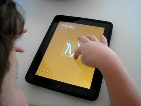 Leo Playing iWriteWords on His iPad - YouTube