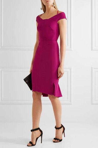 Roland Mouret - Beatrix Cutout Stretch-crepe Dress - Pink - UK