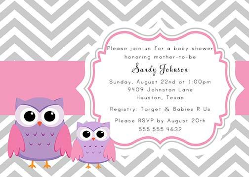 238 best invitaciones images on pinterest backgrounds invitations gray and pink chevron baby owls baby shower invitation colors can be changed filmwisefo