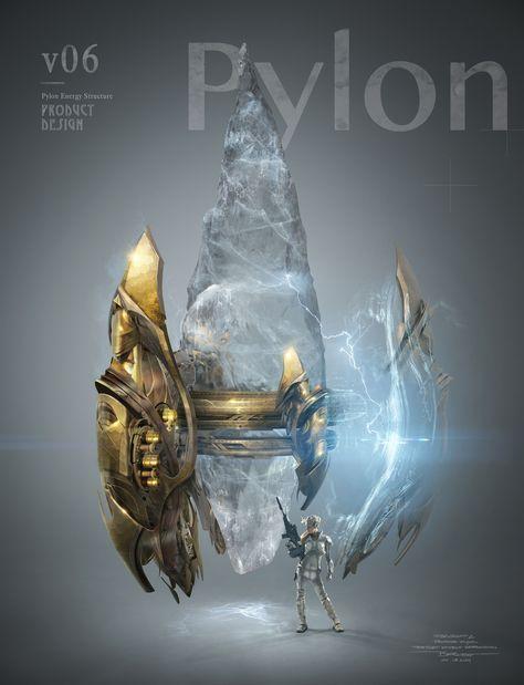 ArtStation - Starcraft II | Pylon Concept, Jonathan Berube