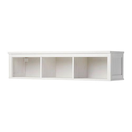 HEMNES Wandregal, weiß gebeizt weiß gebeizt 149x37 cm