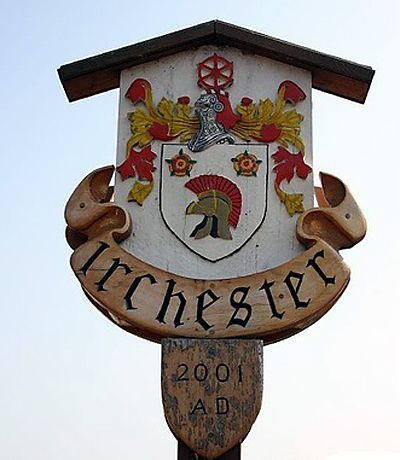 ENGLISH VILLAGE SIGNS | Irchester, Northamptonshire
