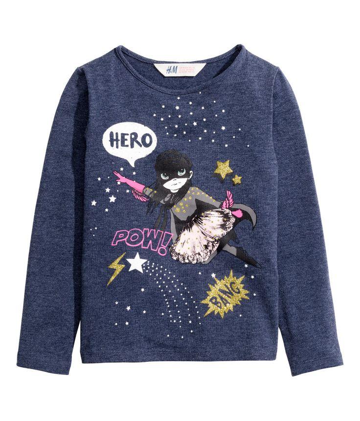 Printed Jersey Top | H&M Kids