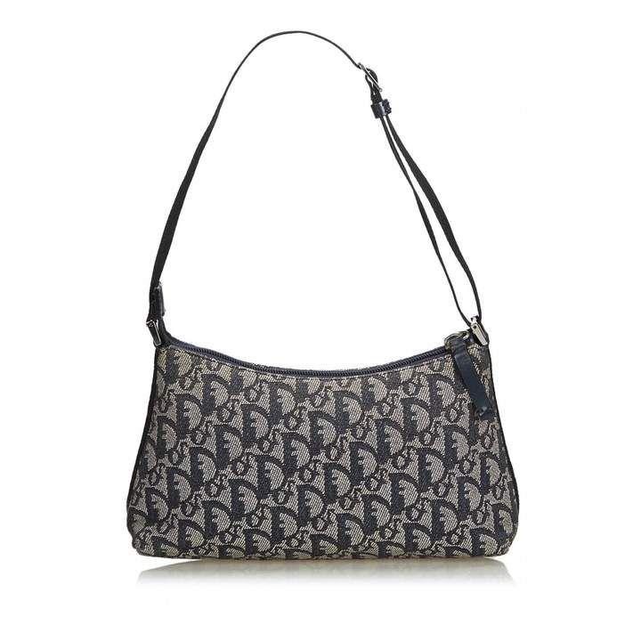 Christian Dior Vintage Grey Cloth Handbag Handbag Outfit Christian Dior Handbags Fall Handbags