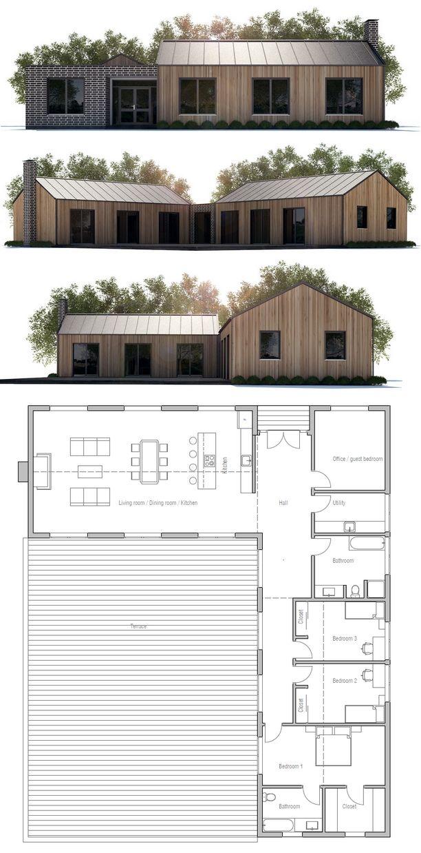 Modern farmhouse, Floor plan from ConceptHome.com