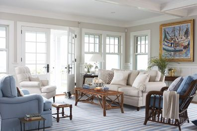 Love The Bright And Clean Look Of This Living Room Beach Casual That Still Looks Elegant