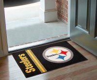 Pittsburgh Steelers Uniform Inspired Starter Door Mat. $19.99 Only.