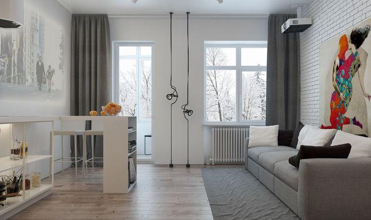 Микролофт 47 м2 - Дизайн интерьеров | Идеи вашего дома | Lodgers