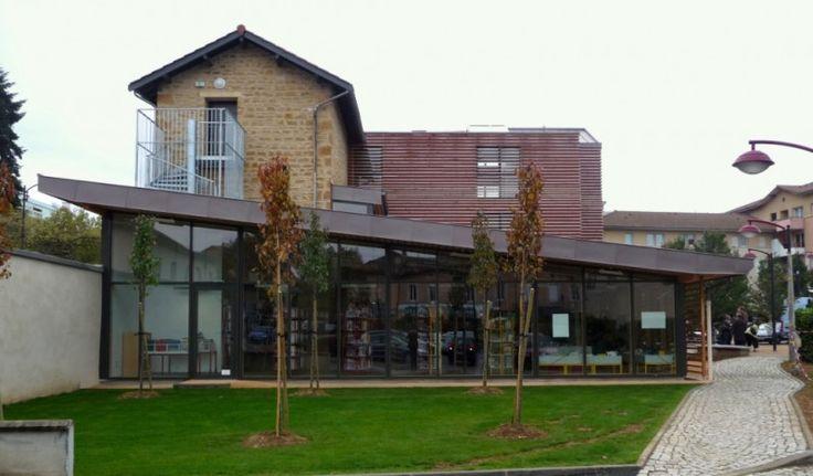 Médiathèque Simone Veil - Jassans- Riottier - Prix national de la construction bois - Panorama