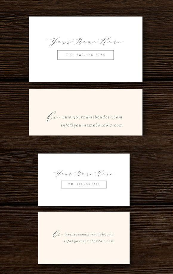 Fine-Art Business Card Template #boudoir #photography | Business ...