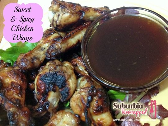 Need a lower fat #chicken wing #recipe? These sweet & spicy treats are baked, not fried! http://www.suburbia-unwrapped.com/2013/04/sweet-and-spicy-chicken-wing-recipe.html