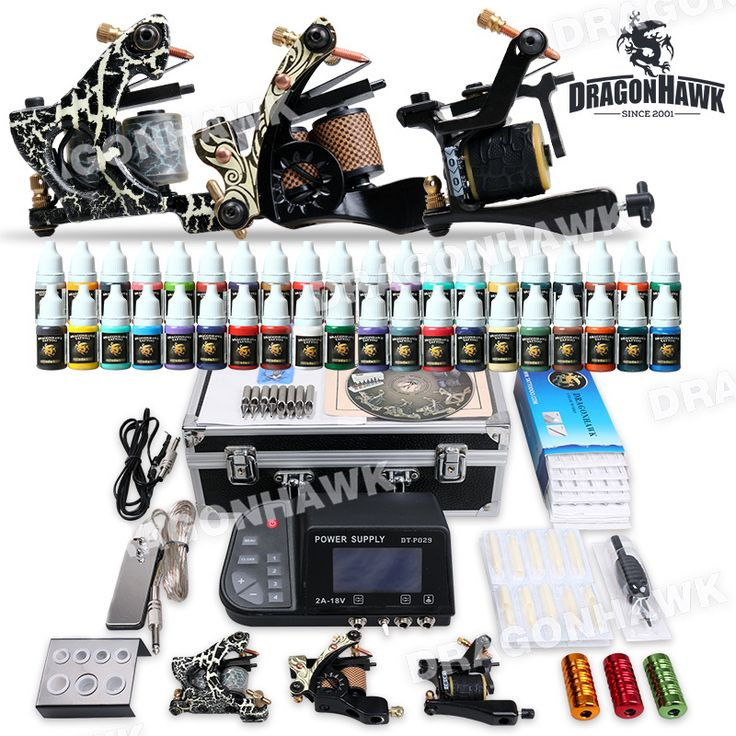 Professional Tattoo Kit 3 Top Machines 40 Color Inks Power [DIY-410(4.0 USO-MGT-11)] - US$108.69 : Dragonhawk tattoo supplies, tattoo kits,tattoo machines for sale global form tattoodiy.com