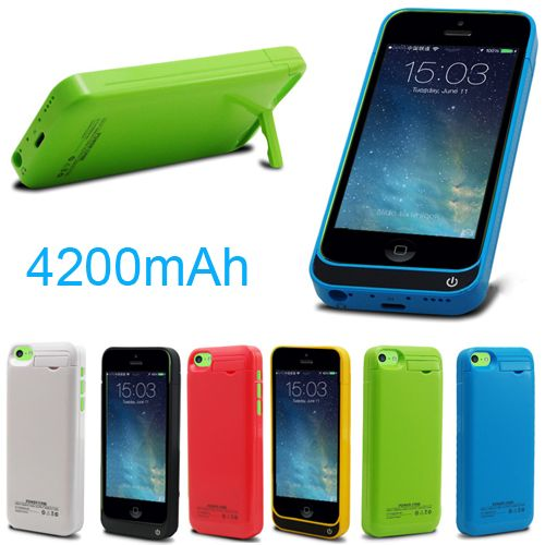 High quality adapter 4200mAh External power bank Charger pack backup battery case for iphone SE 5 5s 5c with USB cable line   iPhone Covers Online