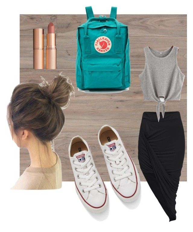 """""""Converse"""" by salapopo on Polyvore featuring Converse, Fjällräven and Charlotte Tilbury"""