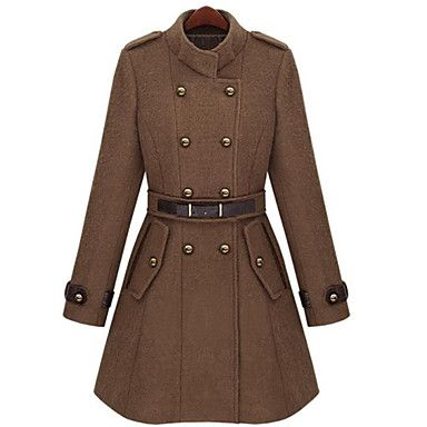 Military style trench coat will become one of your favs. Keep up with the trend, get it by clicking on the picture.