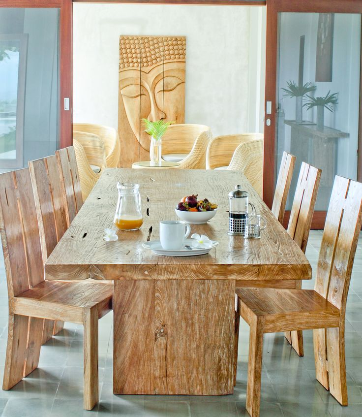 Modern Dining Room Design With Mango Wood Dining Chairs And Glass Top  Designs: Mango Wood