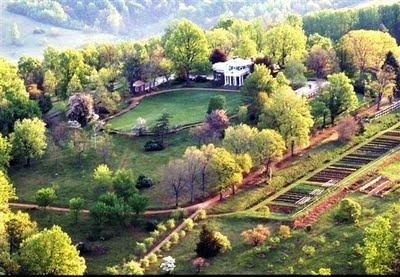 Birdseye View Of Monticello, With Thomas Jeffersonu0027s Vegetable Garden At  Bottom Right | Gardens | Pinterest | Vegetable Garden, Gardens And  Landscaping