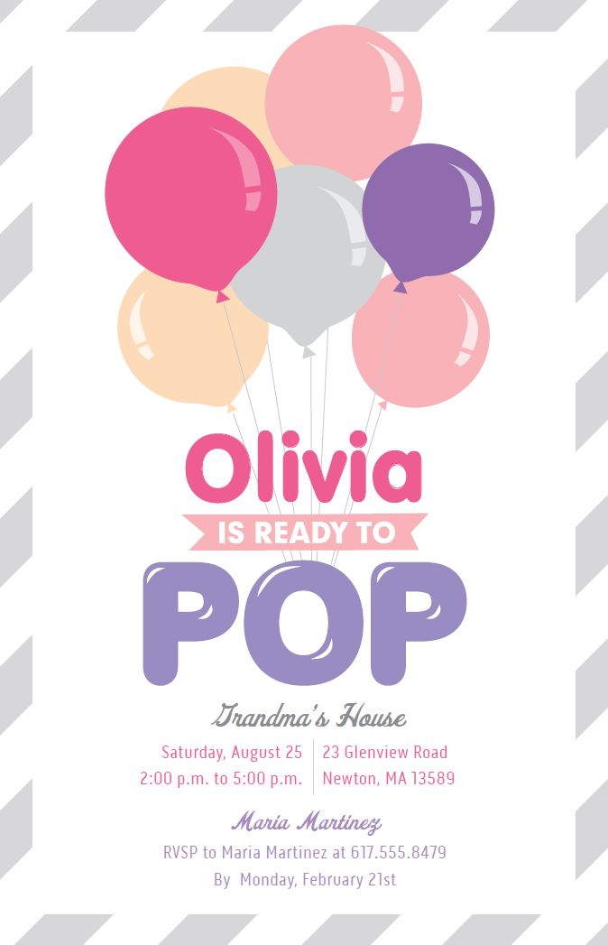 Ready To Pop Baby Shower | Vistaprint