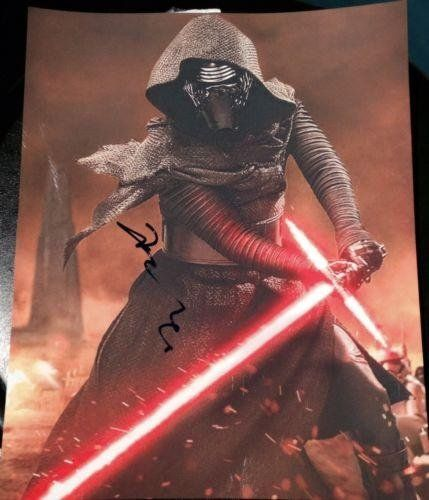 Adam Driver Signed Autograph Star Wars Force Awakens New Kylo Ren Post @ niftywarehouse.com #NiftyWarehouse #Geek #Products #StarWars #Movies #Film