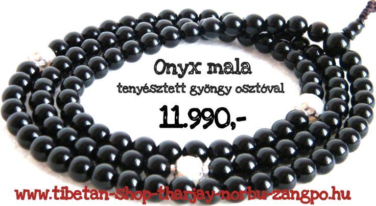 Kifinomult elegancia: onyx ásvány mala tenyésztett gyöngy osztóval webáruházunkban készletről: http://www.tibetan-shop-tharjay-norbu-zangpo.hu/mala/feldragako_mala_71/108_szemes_93