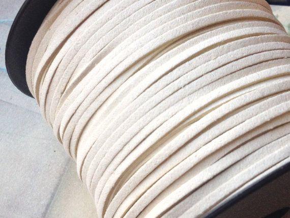 2.5 mm Beige Colour Korean Soft Suede Woven Cord (.suh)