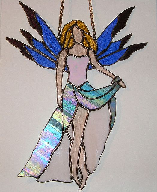 A beautiful stained glass faery