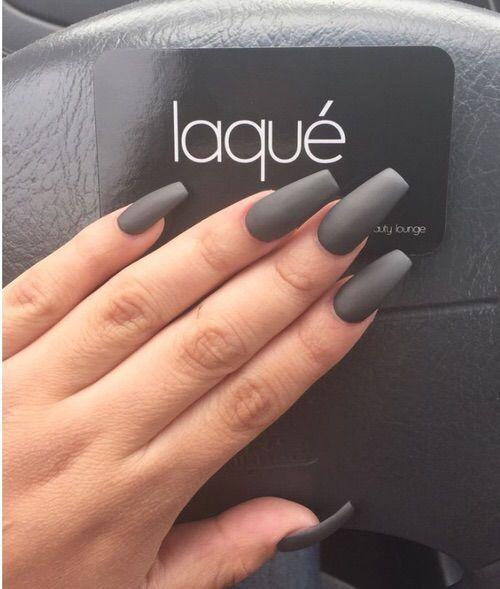 Coralquinn 4 Dark Gray Nails Nailinspiration Nail
