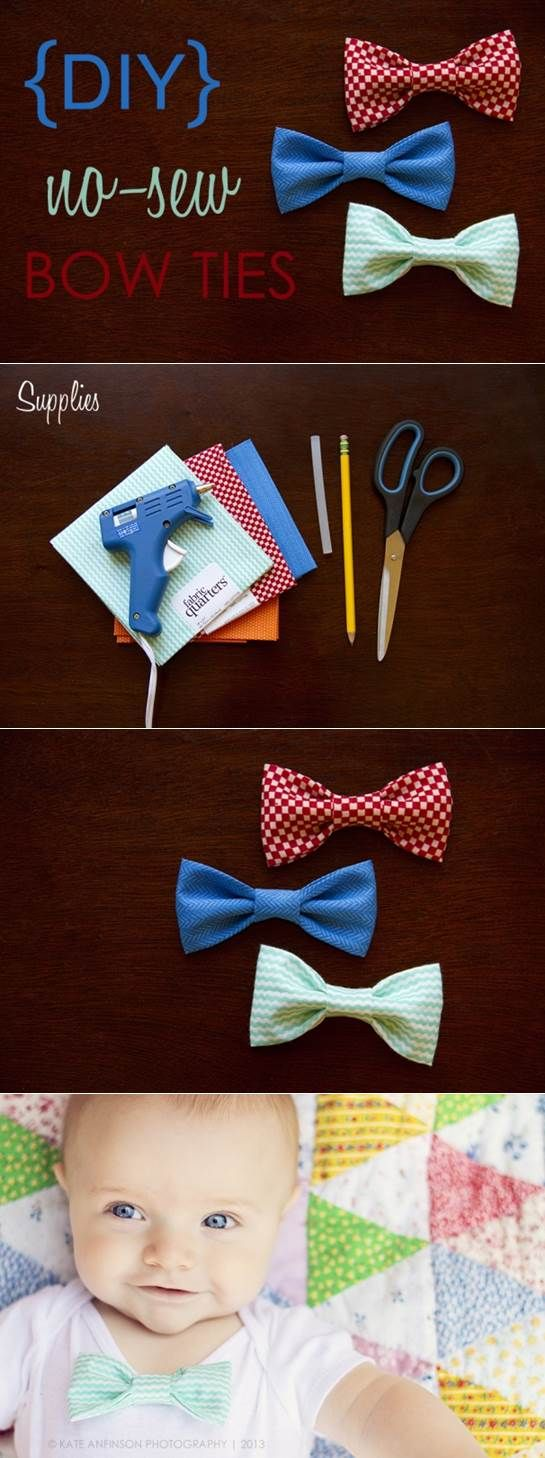 No sew baby bows.  then use Girlie Glue to stick them on!!!!