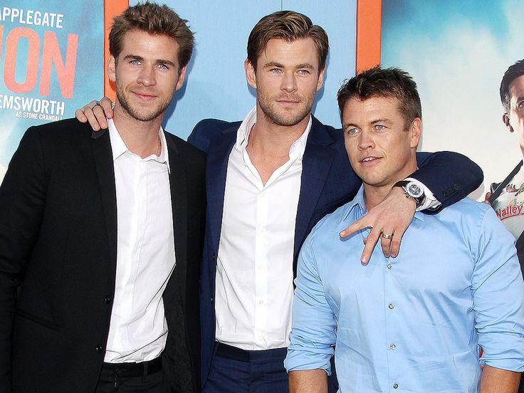 Liam Hemsworth, Chris Hemsworth e Luke Hemsworth