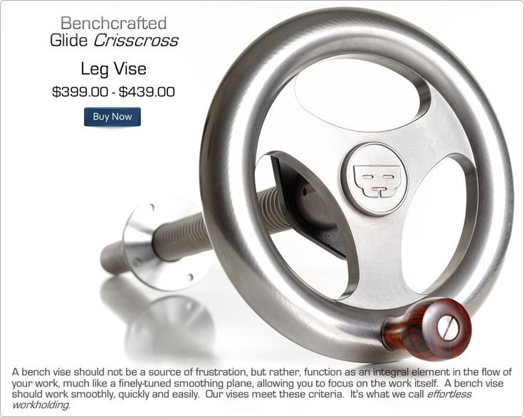 BenchCrafted.com - Glide Crisscross