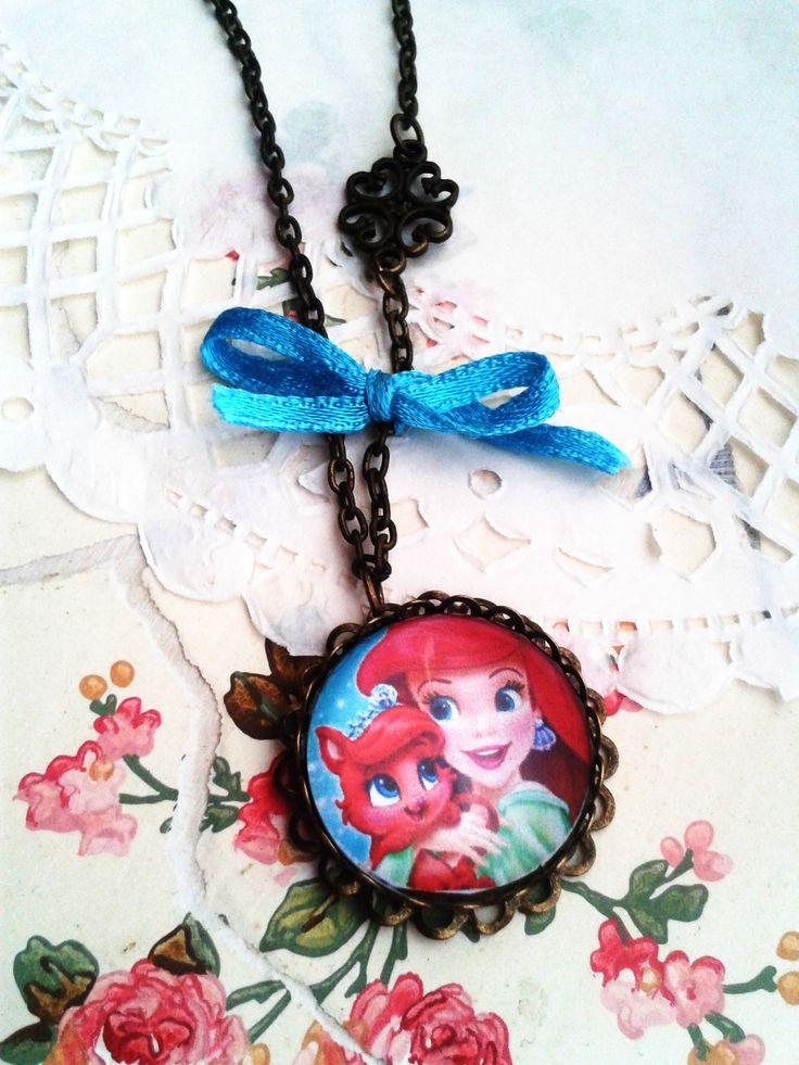 Disney Ariell kislány ékszer, mesés nyaklánc kis hercegnők örömére (vintage, jewerly, necklase, Disney Princess, Minnie)