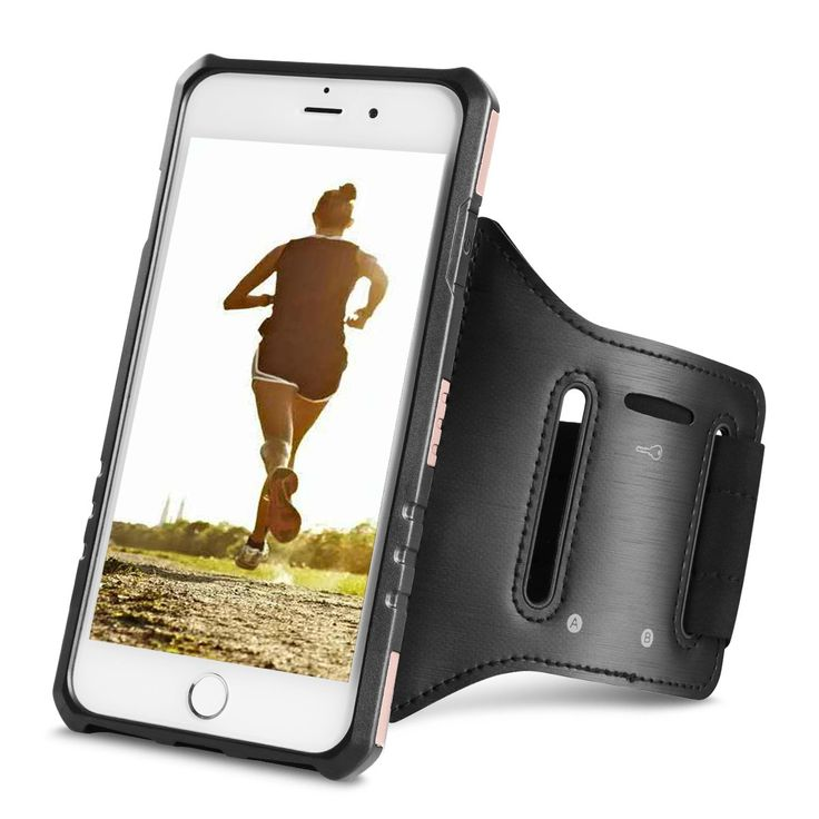 """Running Armband, Ecoconut iPhone 7 6S 6 Case Cover Workout Armband Heavy Duty Armor Anti-Shock Protective Hard Shell Gym Outdoor Exercise Sweet-proof Sports Armband for iPhone 7 6S 6 4.7"""" (Rose Gold)"""