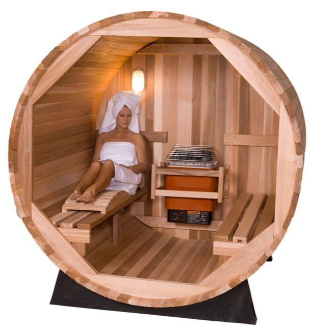Оригинальные сауны в форме бочонка от компании Almost Heaven Saunas