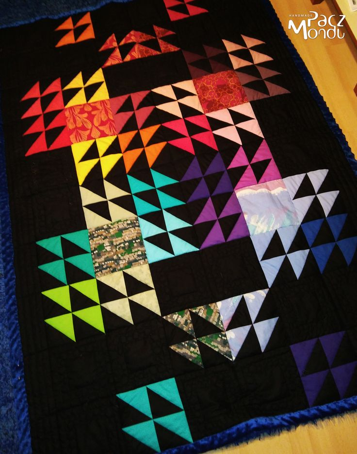 black neon quilt, patchwork