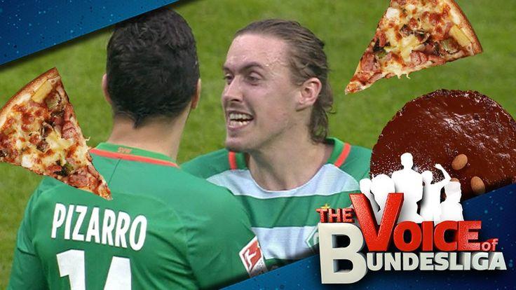 """Schokokuchen oder fette Pizza? Bei """"Voice of Bundesliga"""" dreht sich diesmal alles um Max Kruses Knipser-Tipps für mehr Pizarro-Tore! Kleiner Hinweis: Nicht ernst nehmen ;)"""