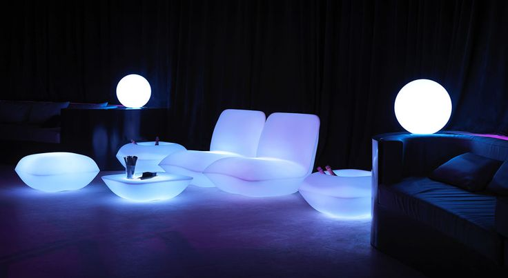 LED or illuminated furniture - totally cool to rent or own for parties this summer!