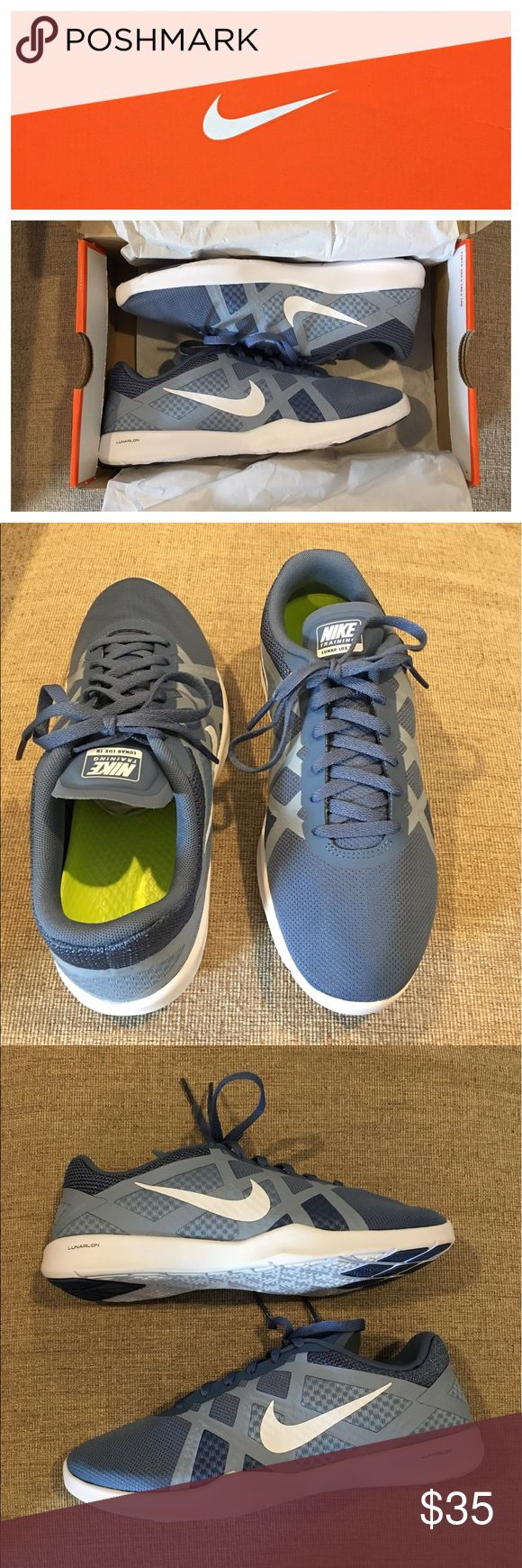New Nike Women's Lunar Lux Shoes- Size 7 New in box!  Nike lunarlon Lunar lux TR woman's running - cross training shoes, size 7  Color: Ocean fog / white - blue grey  - volt Nike Shoes Athletic Shoes