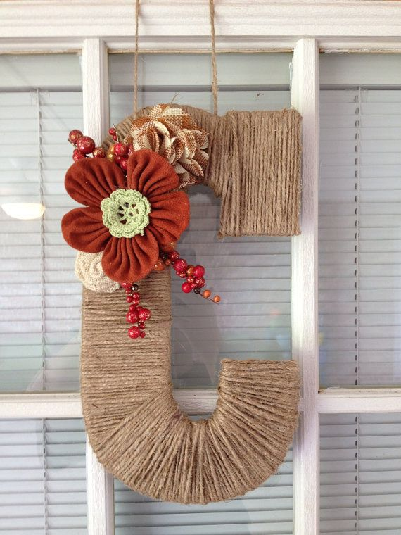 Letter wall decor wreath attachment rustic letter door for S letter decoration